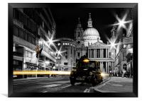 St pauls with Black Cab, Framed Print