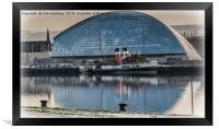 PS Waverley at the Glasgow Science Centre, Framed Print
