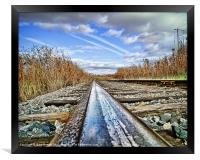 The Steel Rail Blues., Framed Print