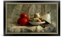 Tomatoes and Garlic, Framed Print