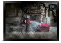 Ghostly Bride Fashion Shoot, Framed Print