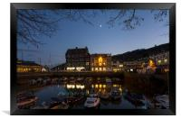 Christmas at Darthmouth Harbour at sunset, Framed Print