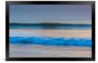 Widemouth Bay Waves, Bude, Cornwall, UK., Framed Print