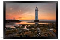New Brighton Sunset, Framed Print