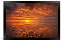New Brighton Sunset ( Reflections), Framed Print