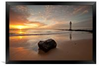 SUNSET AT THE ROCK ( New Brighton ), Framed Print