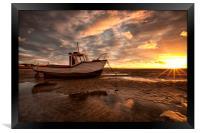 """""""Meols Sunburst"""" (On The Shore), Framed Print"""