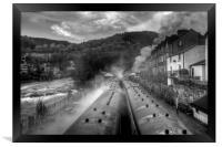 """""""Llangollen Steam"""", Framed Print"""