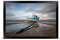 """Fishing Boat"" (North West Beach), Framed Print"