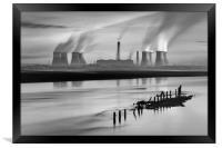 Fiddlers Ferry Power Station, Framed Print