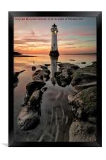 Perch Rock Sunset, Framed Print