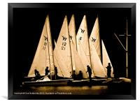 sailing boats in silhouette (2), Framed Print