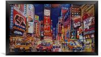 Time Square New York City, Framed Print