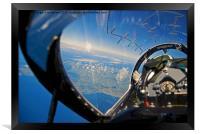 A pilot's eye view, Framed Print