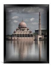 The Putra Mosque in Putrajaya, Framed Print