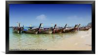 Boats in Thailand, Framed Print