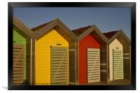 Beach Huts in bright sunshine, Framed Print