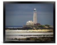 St Marys Island Lighthouse, Framed Print