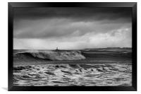 Rough sea and stormy sky, Framed Print