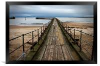 Wooden Pier at Blyth Northumberland, Framed Print