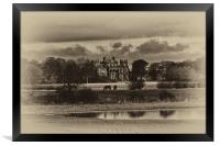 Seaton Delaval Hall in sepia, Framed Print