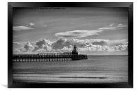 The Piers at Blyth in Northumberland, Framed Print