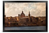 Valletta in morning sunshine, Framed Print