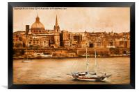 Valletta Malta in the style of Georgia O'Keefe, Framed Print
