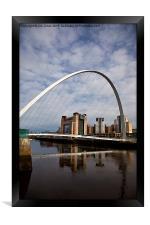 Millennium Bridge and Baltic, Framed Print