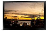 Dusk over the Fish Quay, Framed Print