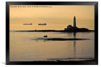 Lazy, hazy summers morning at St Mary's Island, Framed Print