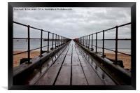 Wet wooden pier, Framed Print
