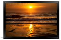 Golden sunrise, Framed Print