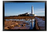 St Mary's Island reflections, Framed Print