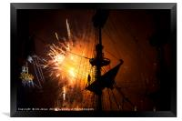 Fireworks and Tall Ships 2, Framed Print