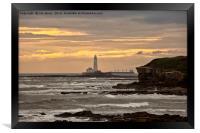 St Mary's Island and Lighthouse, Framed Print
