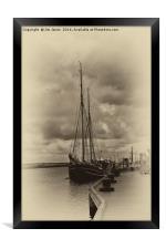 Antique Plate Tall Ship, Framed Print