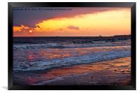 Early morning seascape, Framed Print