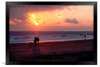 Dawn dog days, Framed Print