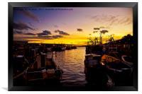 North Shields Fish Quay at Dusk., Framed Print