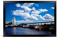 North Shields Fish Quay , Framed Print