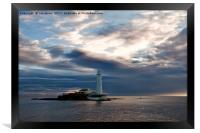 First Light at St Mary's Island 2, Framed Print