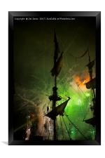 Fireworks and Tall Ships 4, Framed Print