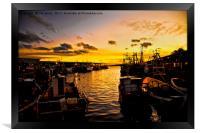 North Shields Fish Quay at Dusk, Framed Print