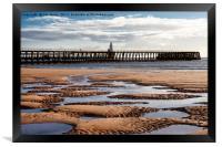 The Piers from Blyth beach, Framed Print