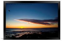 Sunrise over Whitley Bay, Framed Print