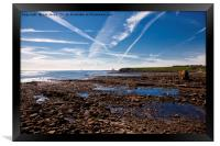 Collywell Bay at low tide, Framed Print