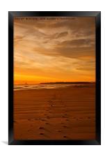 RE-LISTED Walking towards the Daybreak, Framed Print