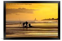 Fishermen at Sunrise, Framed Print