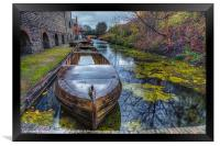 Canal Boat, Framed Print